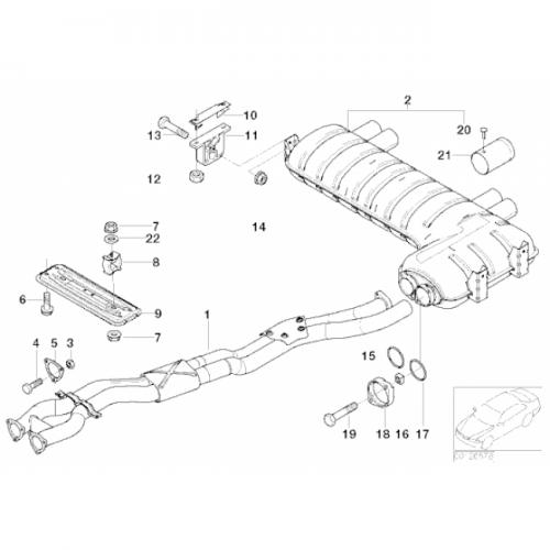 2006 Bmw 325i Exhaust Diagram