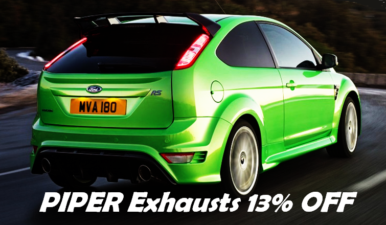Piper exhaust 13% off